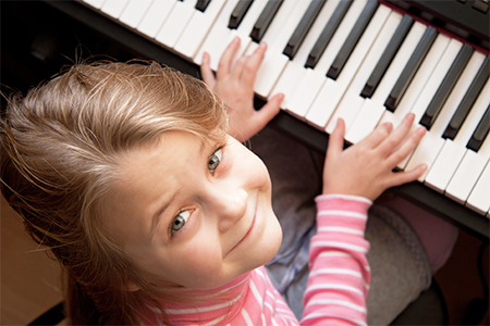 Child Piano Lesson